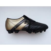 6b9d33a7f6012 Tacos Fútbol Soccer Manríquez Mithos Negro Oro 100% Piel en venta en ...