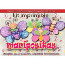 Kit Imprimible Maripositas Mariposas Bautizostarjetas Cumple