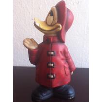 Antigua Figura En Yesso Pato Donald