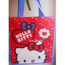 10 Bolsas Reusables Dulcero, Hello Kitty, Sanrio