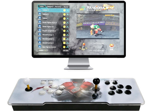Consola Arcade Wifi Pandora Star 2 Joystick +3000 Juegos