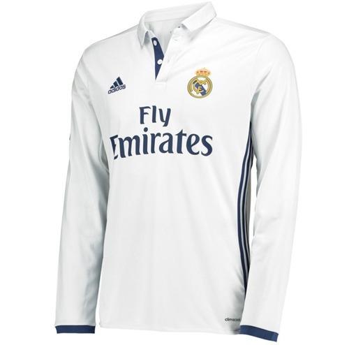 Oferta Jersey Real Madrid Blanca 2017 Larga adidas Ronaldo E a3721a564fbad