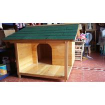 Casas Para Perro De Madera Natural No. 3 Con Terraza