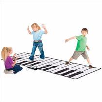 Teclado Piano Tapete Gigante Piso Niños Músical Aprender