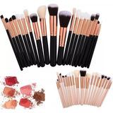 Set 20 Brochas Maquillaje Kabuki Ojos Portátil + Envío