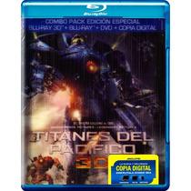 Titanes Del Pacifico, Boxset Combo 3d + Blu-ray + Dvd + Dc
