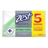 Jabón Zest Antibacterial Humectación 5pack 100g C/u