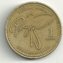 Guatemala (1999) 1 Quetzal Paz Firme Y Duradera Omm
