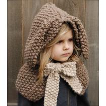 Gorro Tejido Crochet Con Orejas De Conejo Bebe Niño Adulto en venta ... 1f531ede678