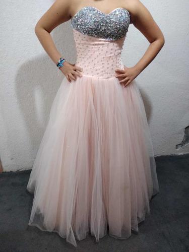 Vestido Xv Años Usado Color Durazno En Venta En Los