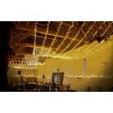 Serie Luces 20 Mts  Blanco Cálido (luz Ámbar) Decoración