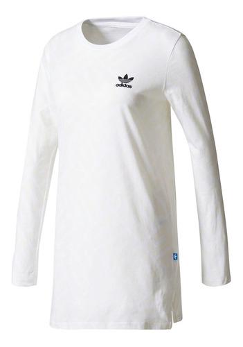 Playera adidas Mujer Blanco Originals Con Trifolio Bq8023 en ...