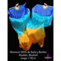 Abanicos De 100% Seda Y Bambú 1.50 M Danza Arabe Bellydance