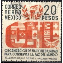 2230 México O N U Scott # C162 Aéreo 20pesos Usado L H 1946