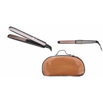 Súper Combo Plancha Y Rizador Cabello Keratina Remington