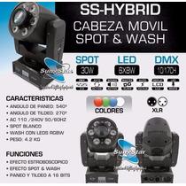 Cabeza Móvil Ss-hybrid Spot/wash Sun Star