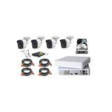 Kit Video Vigilancia 4 Cámaras Hd 720p 1mp Disco Duro 500gb