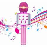 Micrófono De Karaoke Inalámbrico Con Bluetooth Y Bocina