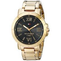 Reloj Tommy Hilfiger Dama Dorado Con Negro Original