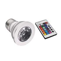 Foco Luz 3-2 Rgb Con Control Remoto E-27