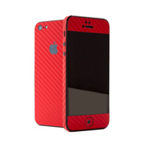 Skin Sticker Fibra De Carbono Para Iphone 5 Completo Omm