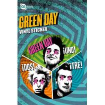Etiqueta Verde Día - Trío De Vinilo 10x15cm ¡roca Música