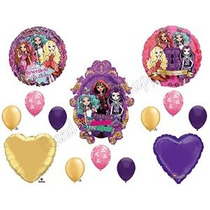 Ever After High Feliz Cumpleaños Globos Decoración Suministr