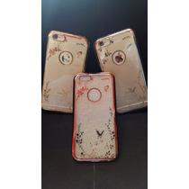 Funda Lujo Iphone 6 6s Diseño + Vidrio Templado+ Envio Free