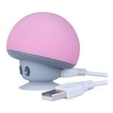 Mini Bocina Bluetooth Recargable En Forma Hongo Impermeable