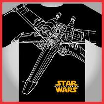 Star Wars Nave X Wing, Vectores Serigrafia, Separacion Color