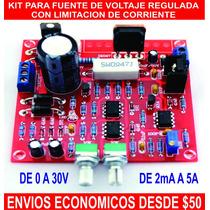 Fuente Regulada De Voltaje Con Limitacion De Corriente Kit