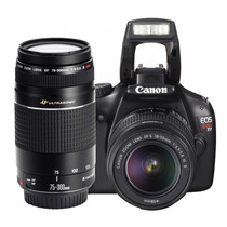 Canon® Rebel Eos T3 Kit Lentes 18-55 + 75-300mm Video Hd