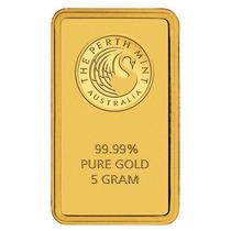 Nuevo Lingote Oro 5gr Perth Mint 99.9% Puro Blister Global