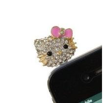 Hello Kitty Plug Cubre Polvo Tablet Iphone Ipod Ipad Mp3 Cel