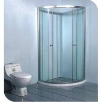 Cabina De Baño En Cristal Templado Y Cancel De Aluminio
