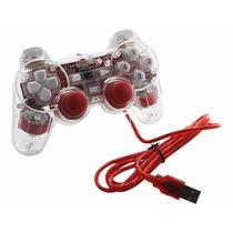 Control Juegos Alámbrico Transparente Pc Laptop Usb