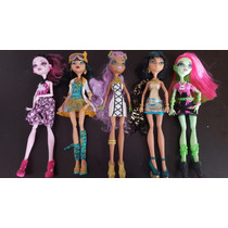 Monster High Ven Vennus, Draculaura, Cleo, Clawdeen