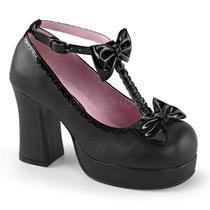 Zapatillas C/ Moños Gotico Lolita Cosplay Gothika-04