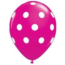 Globos Punto Decoración Pink Party Polka (12) De Látex