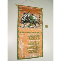Cartel Banderín Corrida De Toros Monumental De Pachuca 1978
