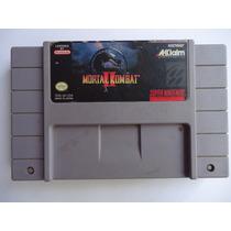 Mortal Kombat Ii 2 Para Super Nintendo Snes Peleas Clasico