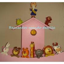 Centro De Mesa Baby Shower Bautizo Arca De Noe Animalitos
