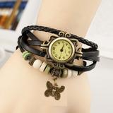 Reloj Vintage Con Dije De Mariposa Para Dama Mayoreo