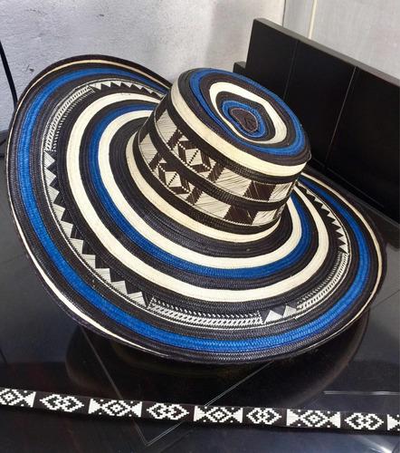 171ddde1410d8 Sombrero Vueltiao Colombiano 19 Vueltas Azul Y Cinto