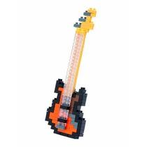 Nanoblocks - Insturmentos Musicales - Bajo Electrico Naranja