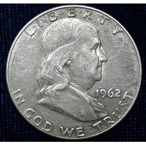 Moneda Half Dollar 1962-d Franklin De Plata