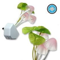 Mini Lámpara Leds Forma Hongo Cambia De Colores Automática