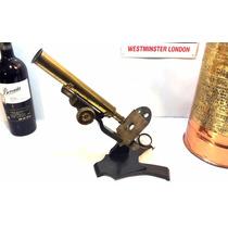 Antiguo Microscopio Americano, Vintage, De Colección, 1899