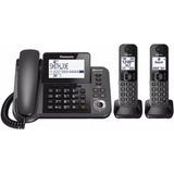 Teléfono Fijo Panasonic 2 Extensiones Inalámbricas Bluetooth