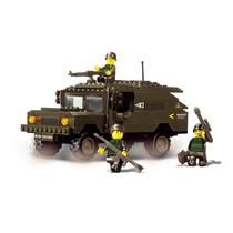 Tanque Modelo - Sluban Chariot Army Military Forces Soldados